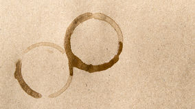 Coffee cup stain Stock Photography