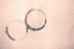 Coffee cup stain vintage style Stock Images