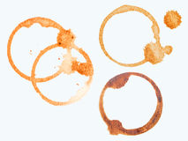 Coffee cup stains isolated Royalty Free Stock Photography