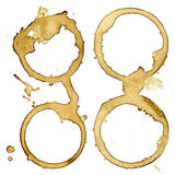 Coffee cup stains. Set of four vectors eps10. Stock Image
