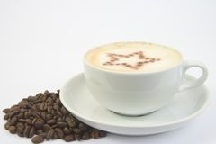 Coffee cup and star Royalty Free Stock Photography