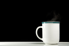 Coffee cup with steam Stock Photography
