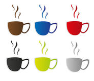 Coffee cup stickers Stock Photography