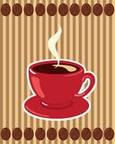 Coffee Cup on Striped Background Stock Photography
