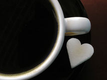Coffee cup & sugar Stock Photos