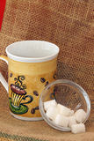 Coffee cup and sugar Stock Photography