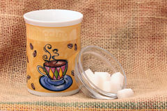 Coffee cup and sugar Royalty Free Stock Images