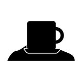 Coffee cup with sugar Stock Photo