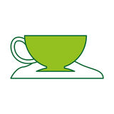Coffee cup with sugar Royalty Free Stock Photos