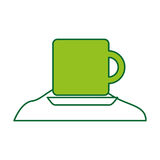 Coffee cup with sugar Stock Image