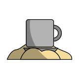 Coffee cup with sugar Stock Images