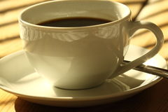 Coffee cup sunlight A Royalty Free Stock Photography