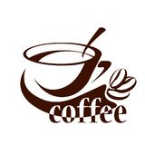 Coffee cup symbol. Isolated coffee cup symbol on white background Royalty Free Stock Image