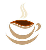 Coffee cup symbol Royalty Free Stock Images