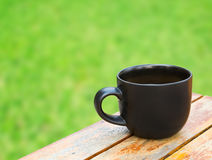 Coffee cup on table. Coffee cup on wood table Stock Photos