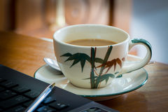 Coffee. Cup on the table Stock Photo