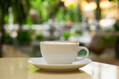 Coffee cup on the table. Royalty Free Stock Photography
