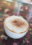 Coffee cup on table Stock Images