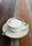 Coffee cup on table Royalty Free Stock Photos
