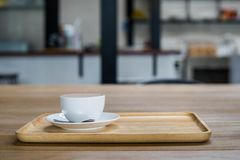 Coffee cup on the table Stock Images