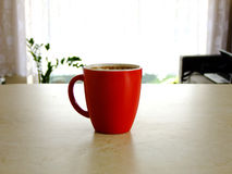Coffee. A Cup of Coffee on the Table at Home Stock Image