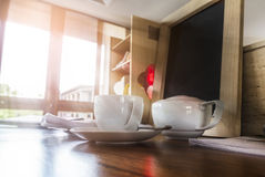 Coffee cup on the table Stock Photography