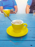 Coffee cup on the table Stock Image
