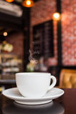 Coffee cup on the table. Stock Photos