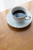 Coffee, cup, table, white, black,  espresso, drink, breakfast, morning, aroma, mu Stock Photos