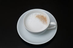 Coffee, cup, table, white, black,  espresso, drink, breakfast, morning, aroma, mu Royalty Free Stock Image