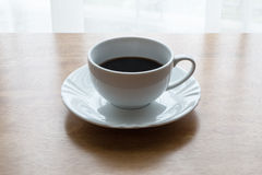 Coffee, cup, table, white, black,  espresso, drink, breakfast, morning, aroma, mu Stock Image
