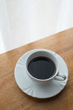 Coffee, cup, table, white, black,  espresso, drink, breakfast, morning, aroma, mu Stock Photo