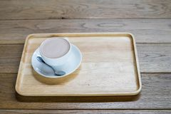 Coffee cup on the table Stock Photos