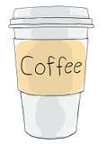 Coffee cup take away. Cute art Stock Photos