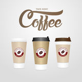Coffee cup. Take away paper / plastic coffee cup vector illustra Royalty Free Stock Images