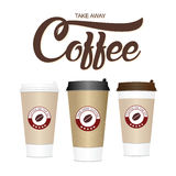 Coffee cup. Take away paper / plastic coffee cup vector illustra Stock Photography