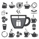Coffee cup and Tea cup icon set.Illustration Royalty Free Stock Photo