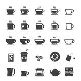 Coffee cup and Tea cup icon set Stock Photo