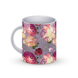 Coffee cup template illustration with flower russian traditional pattern. Vector Stock Image