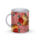 Coffee cup template illustration with flower russian traditional pattern. Vector Stock Photography