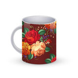 Coffee cup template illustration with flower russian traditional pattern. Vector Royalty Free Stock Photos