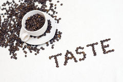 Free Coffee Cup Text -  Taste  Stock Photography - 3764842