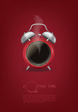 Coffee cup time clock concept design background Royalty Free Stock Image