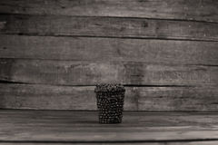 Coffee cup to go. To go cup of coffee made of coffee beans, do it yourself project stock photography