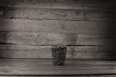 Coffee cup to go. To go cup of coffee made of coffee beans, do it yourself project royalty free stock image