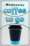 Coffee cup to go royalty free stock photo