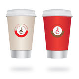 Coffee cup to go Royalty Free Stock Photos