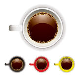 Coffee cup top Royalty Free Stock Images
