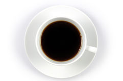Coffee cup. With top shot Stock Photo