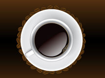 Coffee cup, top view Royalty Free Stock Image